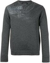 Emporio Armani sketch print sweatshirt - men - Modal - XL