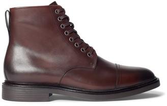 Ralph Lauren Asher Leather Cap-Toe Boot