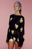 Wildfox Couture Heart Face Lennon Sweater in Black