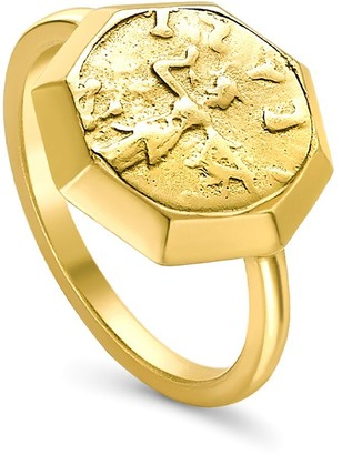 Missoma Lucy Williams Gold Octagon Coin Ring