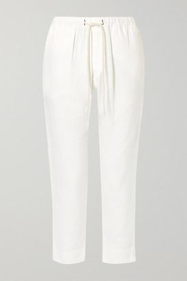 Bassike + Net Sustain Herringbone Cotton Straight-leg Pants - White