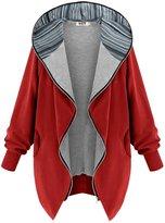 DJT Women's Color Block Hooded Zip-up Jacket