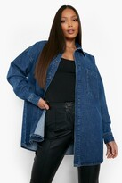 Thumbnail for your product : boohoo Tall Oversized Button Down Denim Shirt