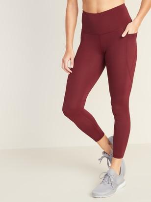 Old Navy High-Waisted Elevate Powersoft 7/8-Length Side-Pocket Leggings For Women