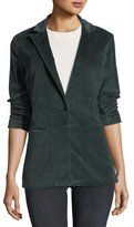 J Brand Denise One-Button Velvet Blazer