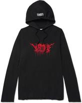 Vetements Metal Printed Cotton-jersey Hoodie - Black