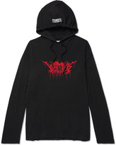 Vetements Metal Printed Cotton-Jersey Hoodie