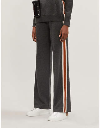 Chinti and Parker Heritage Stripe cashmere and wool jogging bottoms