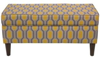 Brayden Studio Pacheco Linen Upholstered Storage Bench