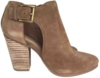 Michael Kors Camel Suede Ankle boots