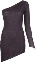 Maisie Wilen graphic-print one shoulder dress