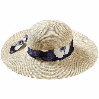 Tickled Pink Women's Watercolor Floral Cape Cod Floppy Hat ONE Size FITS Mone SizeT