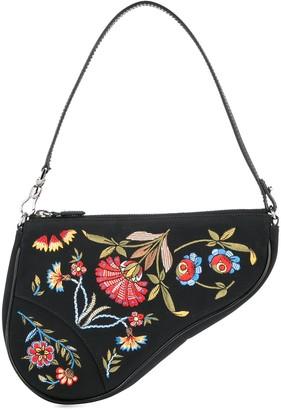 Christian Dior Pre-Owned saddle embroidery flower handbag