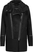 Mackage Suede and leather-trimmed wool-blend and quilted shell down coat