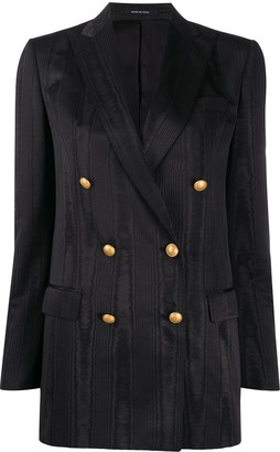 Tagliatore Double-Breasted Moire Jacket