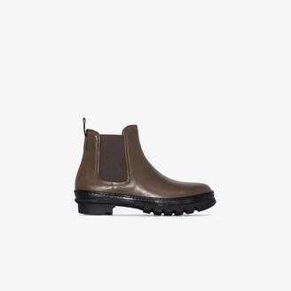LEGRES Green Garden Leather Chelsea Boots