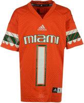 adidas Kids' Miami Hurricanes Replica Football Jersey