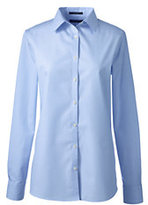 Lands' End Women's Long Sleeve No Iron Shirt-Light Blue