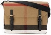 Burberry check messenger bag