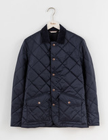 mens quilted jacket with corduroy collar shopstyle. Black Bedroom Furniture Sets. Home Design Ideas