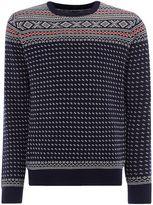Gant Fairisle Crew-neck Knitted Wool Jumper
