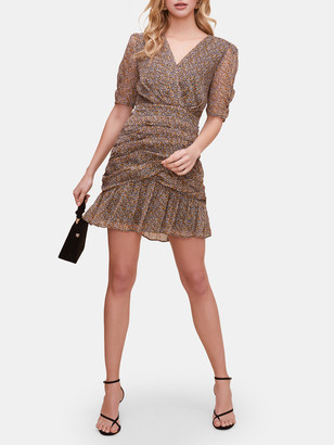 ASTR the Label Shirred Bottom Mini Dress
