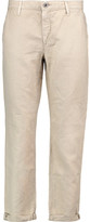 AG Jeans The Tristan Linen And Cotton-Blend Wide-Leg Pants