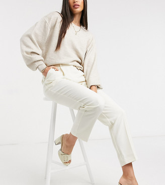 Topshop Tall clean straight pants in ivory