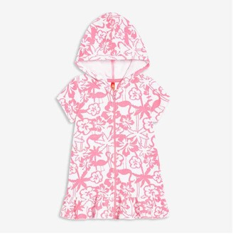 Joe Fresh Baby Girls' Hooded Cover-Up, Pink (Size 12-18)