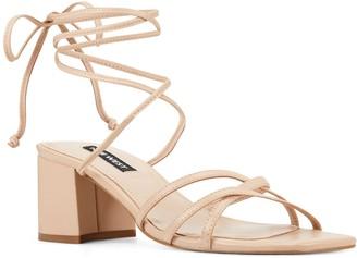 Nine West Meli Women's Leather Block Heel Sandals