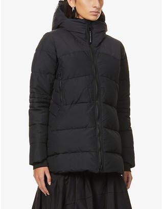 Canada Goose Ladies Black Hybridge Padded Shell-Down Coat, Size: XS