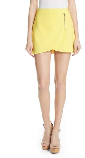 Alice + Olivia Lennon Side Zip Miniskirt