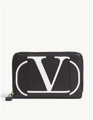 Valentino Go logo inlay coin purse and cardholder