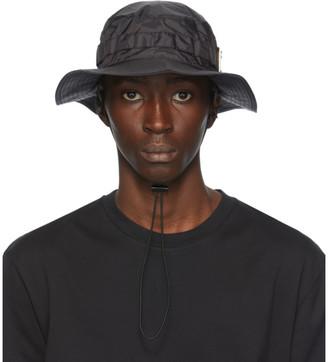 Acne Studios Black Plaque Bucket Hat