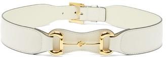 Gucci Horsebit Leather Belt - White