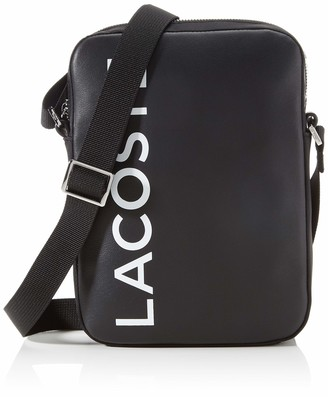 Lacoste NH2933 Men's Satchel Black White One Size