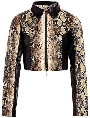 I.AM.GIA Alabama Snake-Print Jacket
