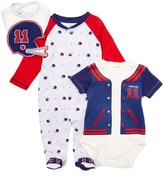 Bon Bebe Red & Blue Football Footie Set - Infant