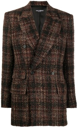 Dolce & Gabbana Check Double-Breasted Blazer