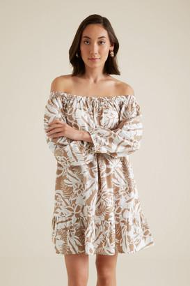 Seed Heritage Palm Print Swing Dress