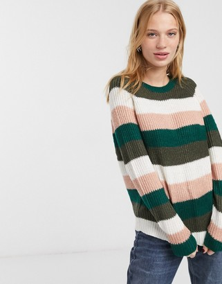 Only pullover knit jumper-White