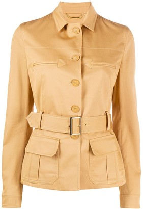 Alberta Ferretti Belted Single-Breasted Jacket