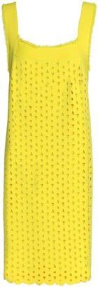 Derek Lam Frayed Laser-cut Stretch-knit Dress