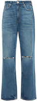 Thumbnail for your product : Rag & Bone Distressed High-rise Straight-leg Jeans