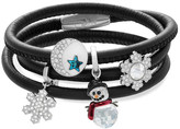 Swarovski Black Leather Charm Bracelet