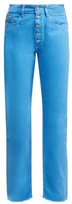 MM6 MAISON MARGIELA Contrast-stitch Straight-leg Jeans - Womens - Blue