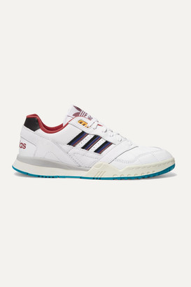 adidas A.r. Trainer Quilted Leather Sneakers - White