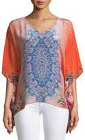 Tolani Briyana Handkerchief-Hem Tunic, Plus Size