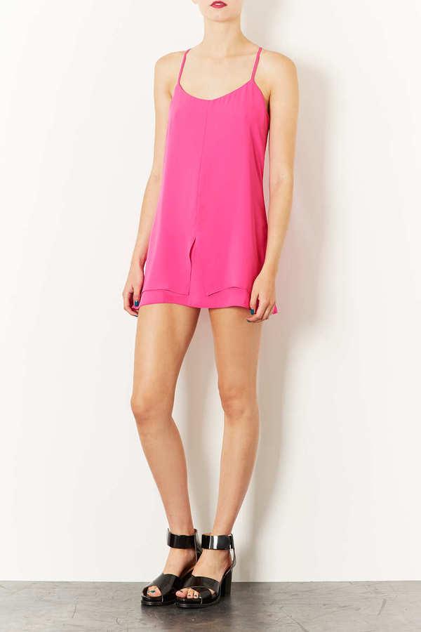 Topshop Petite Strap Back Slip Dress