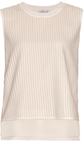 Vince Micro-pleat georgette top
